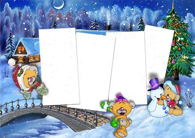 Marcos para Fotos de Navidad. Descarga Gratis. | Marcos Gratis para Fotografías.
