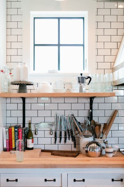Now this is a kitchen: http://www.stylemepretty.com/living/2014/11/03/eclectic-farmhouse-tour/ | Photography: Jana Carson - http://www.janacarson.com/