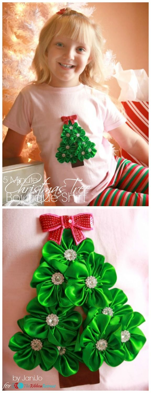 5 Minute Christmas Tree Boutique Shirt - The Ribbon Retreat Blog