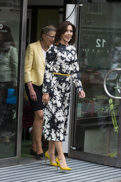 Crown Princess Mary of Denmark is seen during her visit to New Karolinska Solna University Hospital on May 30, 2017 in Stockholm, Sweden.