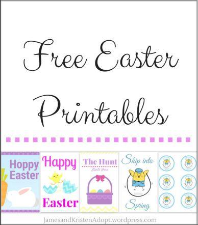 5 Free Easter Printables