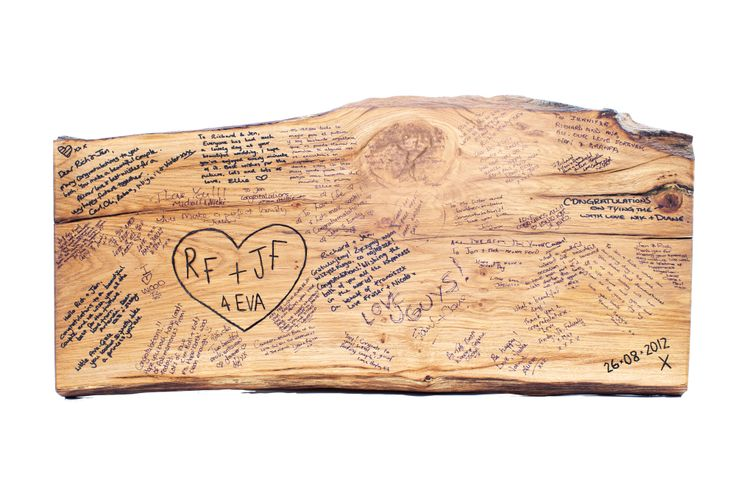 Personalised wedding guest book plank, The Wedding Tree Company, Rs 15,270; Notonthehighstreet.com
