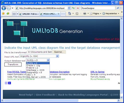UML2DB - Full code-generation of SQL DDL database scripts ...
