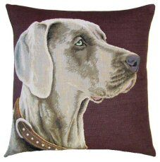 Weimaraner Belgian Tapestry Cushion http://www.abentleycushions.co.uk/detail.asp?pID=8601