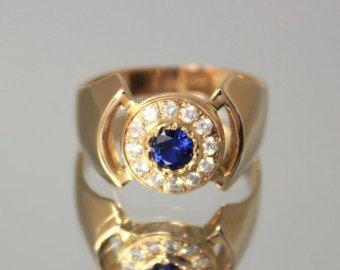 Signet anillo de plata hombres de anillo gitano por JewelryAsteria
