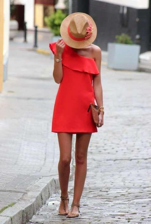 Vestidos cortos de fiesta color naranja http://vestidoparafiesta.com/vestidos-cortos-de-fiesta-color-naranja/