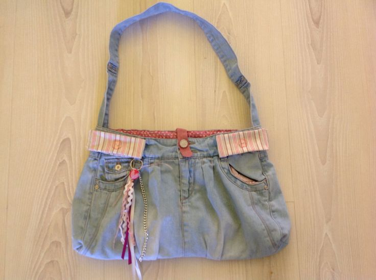 Jeans rok wordt tas. Made by B.