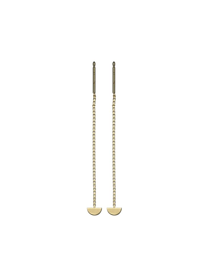 Earring 'Lune' Wire Gold http://www.theboyscouts.nl/product/earring-lune-wire-gold