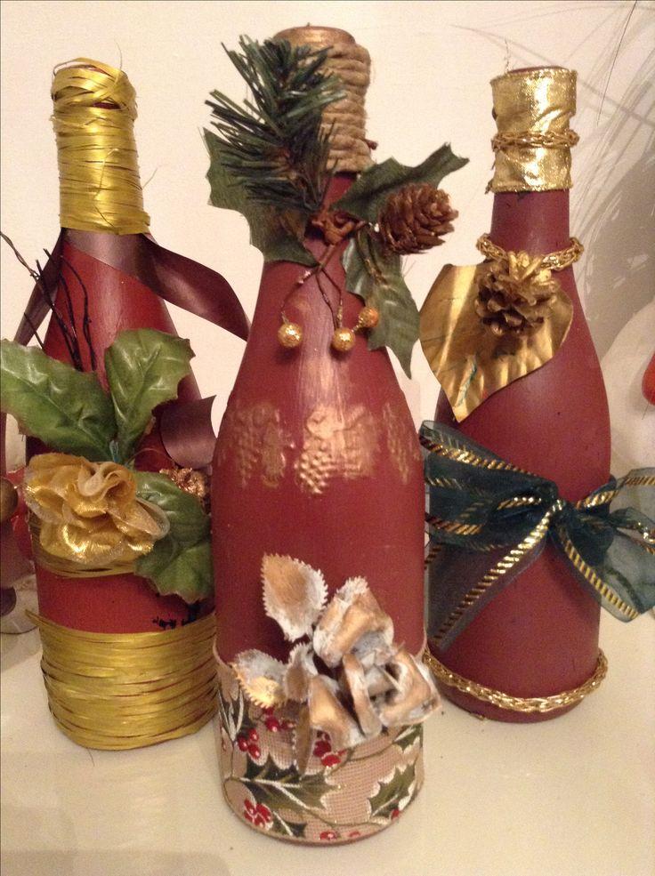 Bottiglie Natalizie...nn proprio il mio genere, ma insomma, ci vogliono!!!