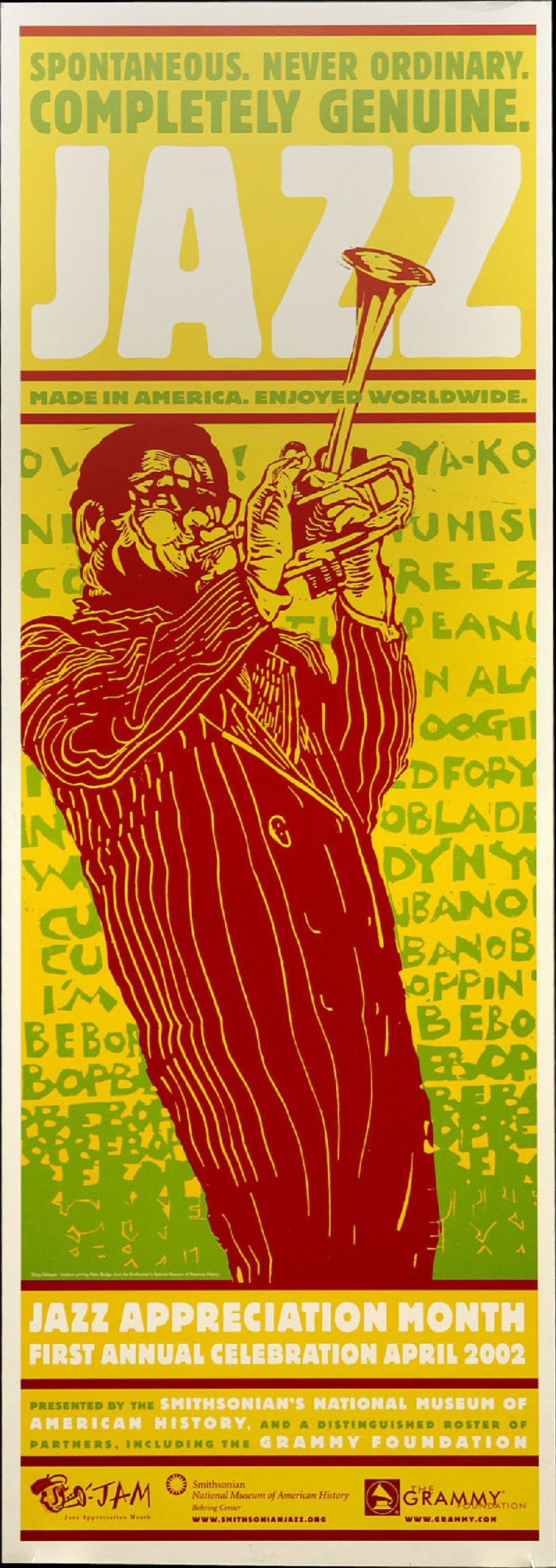 JAM 2002 Poster - Dizzy Gillespie by the artist Peter Bodge.