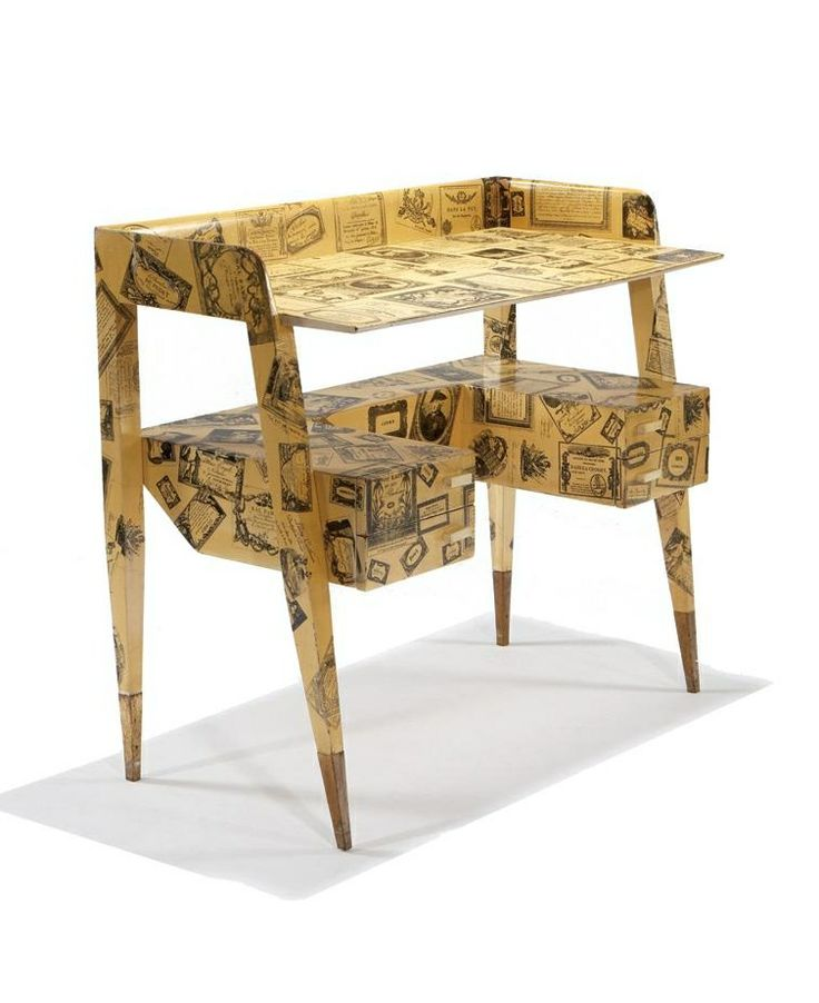Piero fornasetti and gio ponti 39 biglietti de visita 39 desk for Furniture 0 interest financing