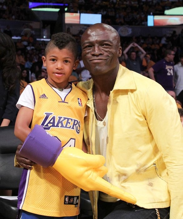 Henry loves to go to Lakers games with his dad, Seal. Along with his ex, supermodel Heidi Klum, Seal has three other children that also call him dad: Leni, Johan and daughter Lou.