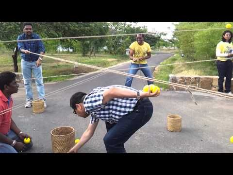 ▶ this requires a lot of teamwork as well as developing eye-hand coordination... Ball Game with Ropes - Team building activity - YouTube