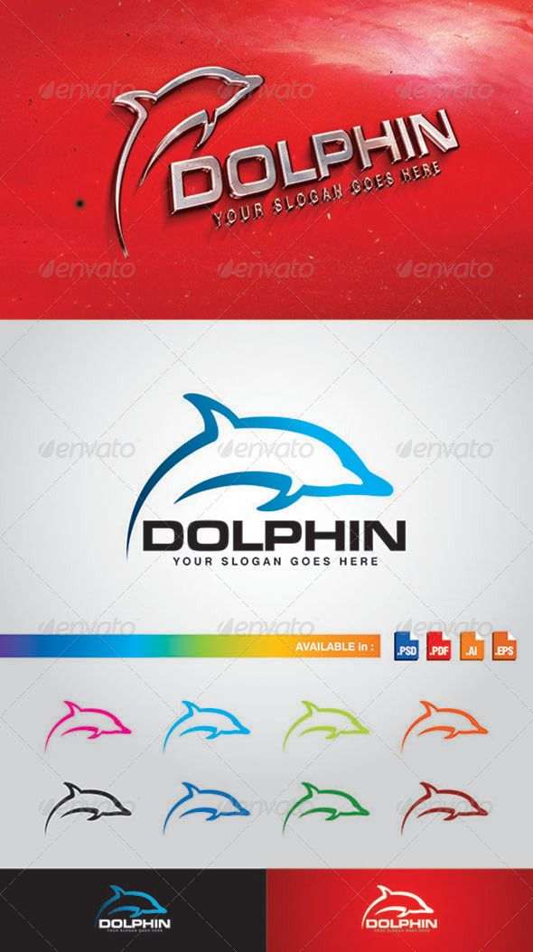 PSD Dolphin Logo  Template • Only available here ➝ http://graphicriver.net/item/dolphin-logo/7751896?ref=pxcr