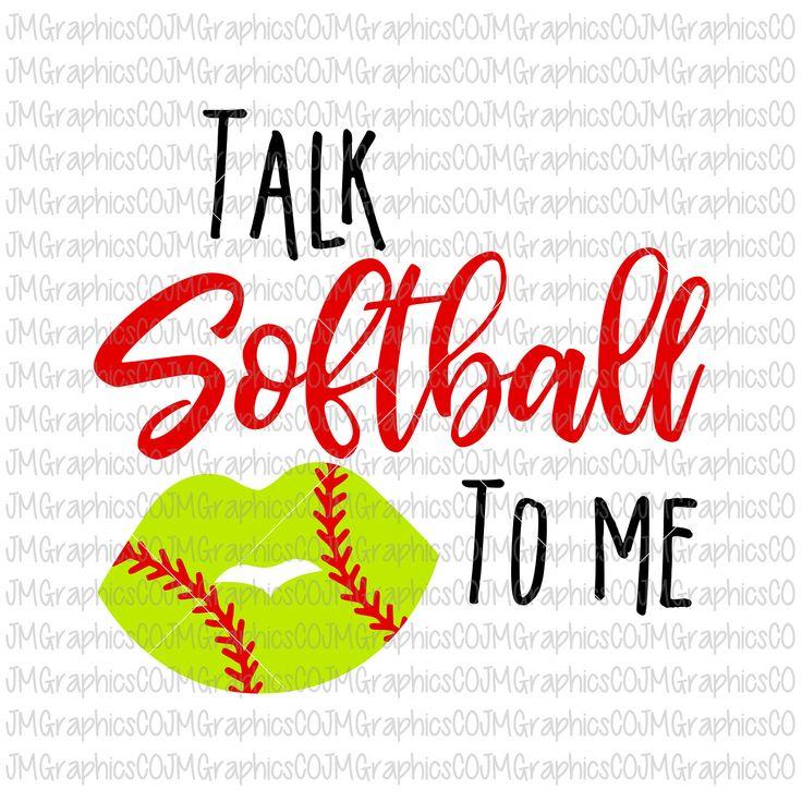 Talk Softball to me svg, eps, dxf, png, cricut, cameo, scan N cut, cut file, softball svg, softball mom svg, softball cut file, lips svg by JMGraphicsCO on Etsy