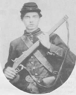 Robert William Bennett (1844-1864) Union, Company D, 72d Regiment, Indiana Infantry, died of scurvy in Andersonville prison.