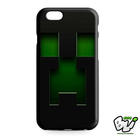 Black Creeper Face Minecraft iPhone 6 | iPhone 6S Case