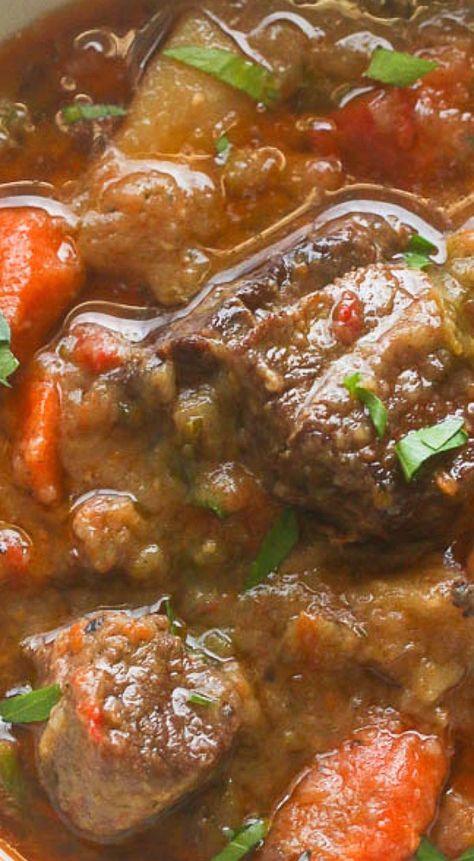 Slow Cooker Jamaican Beef Stew.