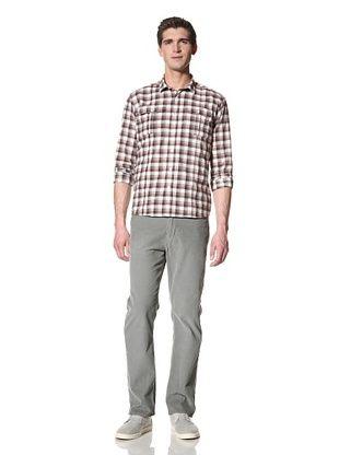 Bespoken Men's Box Pleat Plaid Shirt