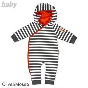 Boy's Olive Louis The Lion Hooded Romper Baby Grow on shopstyle.co.uk