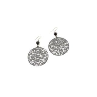 Orientalische Ohrringe in schwarz - besonders angenehm zu tragen, da sie aus einem sehr leichten Material sind - ca. 5 cm - anlaufgeschützt - rhodiniert - nickelfrei