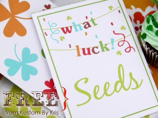 free printable seed packets and st. patricks day invites: Printable Seeds, Seeds Packets, Parties Favors, Fun Ideas, Lucky Seeds, Parties Ideas, Printable Link, Free Printable, Fun Free