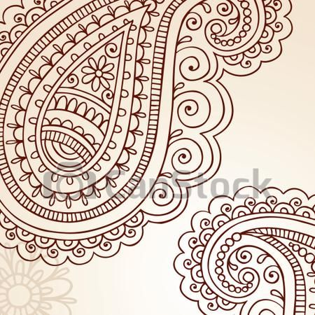 EPS Vectors of Paisley Henna Doodles Vector - Henna Mehndi Paisley Doodle... csp8176249 - Search Clip Art, Illustration, Drawings and Clipart Vector Graphics Images