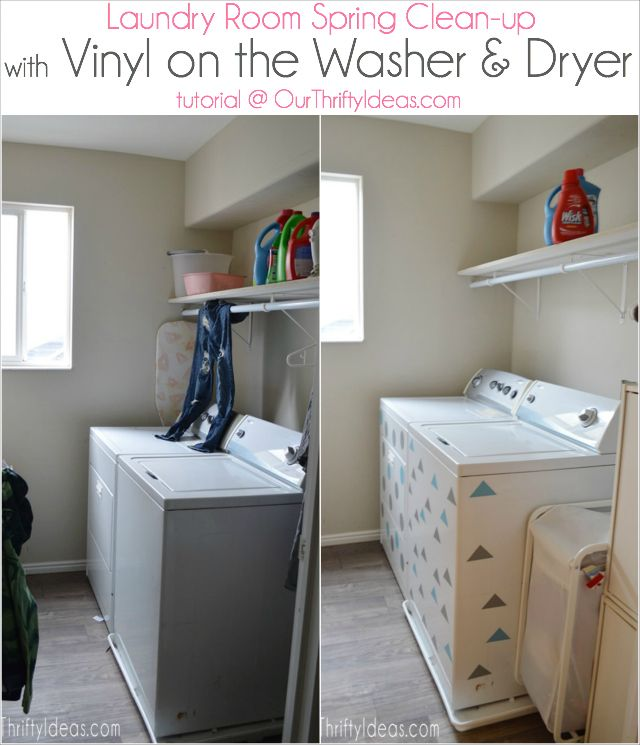 Spruce up your old laundry equipment with a little custom vinyl #Wisk60 AD