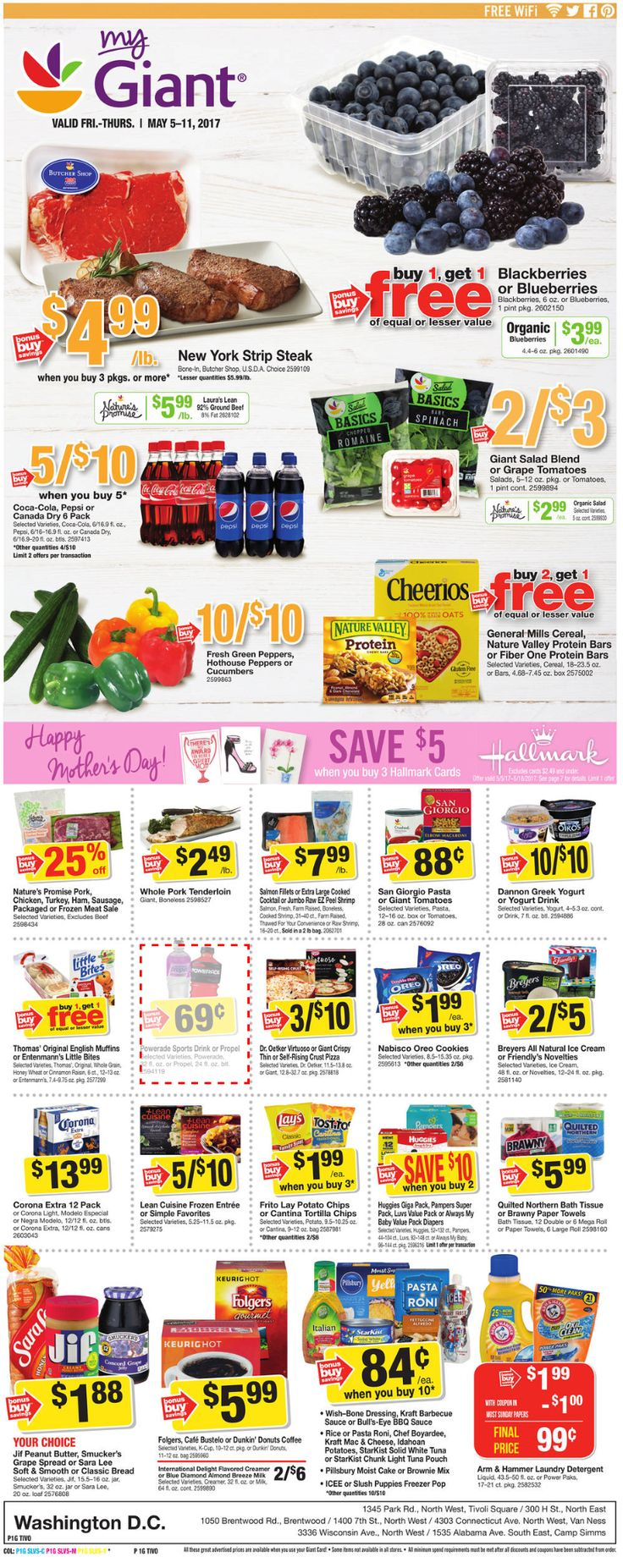Giant Food Weekly Ad May 5 - 11, 2017 - http://www.olcatalog.com/grocery/giant-food-weekly-ad.html
