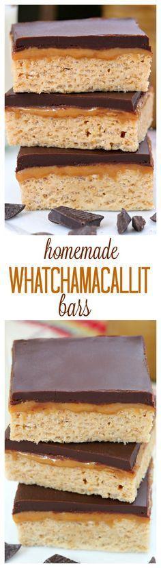 Homemade Whatchamacallit bars recipe