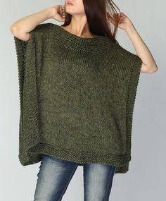 Poncho tejido a mano / capelet eco algodón poncho por MaxMelody