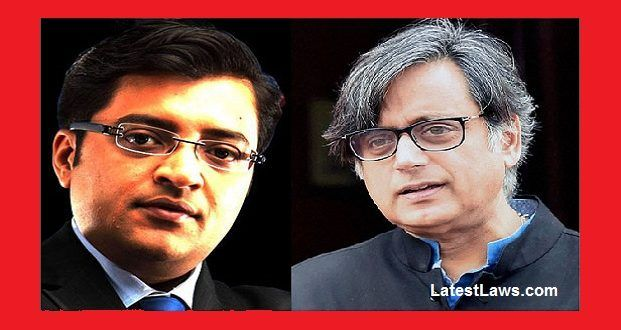 Shashi Tharoor files defamation suit against Arnab Goswami, Republic TV in Delhi HC