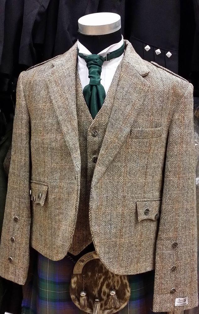 HARRIS TWEED CRAIL Kilt Jacket & Vest  4 KILTS Official Stockist on SALE NOW #HARRISTWEED #OtherJackets