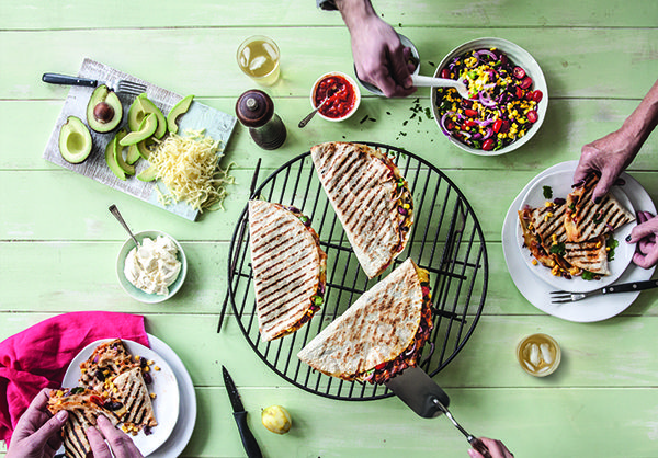 The modern way to eat your toastie – in a wrap hot off the barbie and with glorious stretchy mozzarella cheese. Make this recipe. 30 min serves 4.