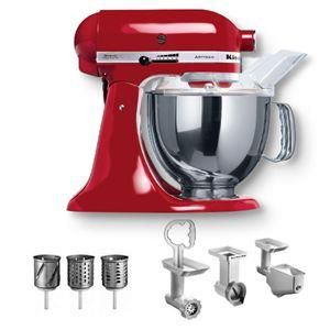 Kitchen Aid, kjøkkenmaskin rød m/kombina