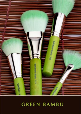Bdellium Tools: Green Bambu Series- Designed by a group of talented makeup brush experts in Cerritos, California, the Green Bambu Series features professional eco-friendly makeup brushes with sustainable bamboo handles, all #vegan soft synthetic bristles.  #crueltyfree #syntheticbrushes