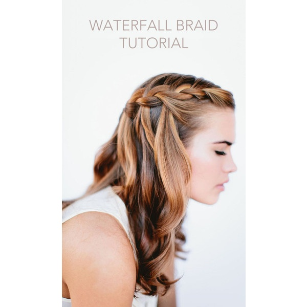 Waterfall Braid Wedding Hairstyles for Long Hair ❤ liked on Polyvore