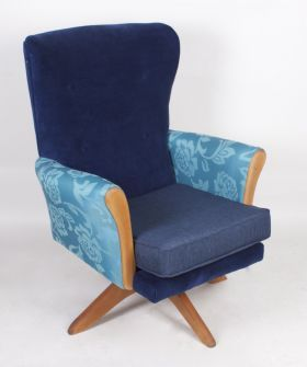 950's Swivel Armchair from Out of the Dark