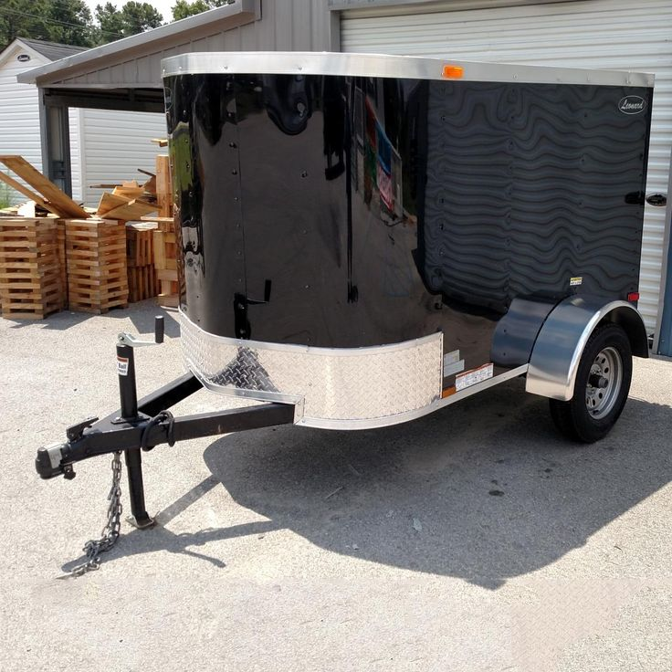 """Single Axle V-Nose Cargo  Trailers are handy and easier to store. 