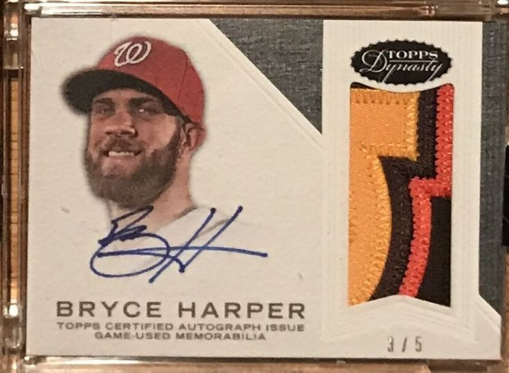 2016 topps dynasty bryce harper autograph jersey patch for Dynasty motors baltimore md