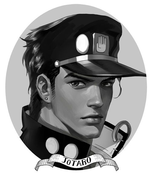 JOTARO KUJO (not my art) by Camélia Eriksen | We Heart It