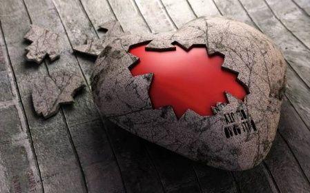 Zlomené srdce obraz