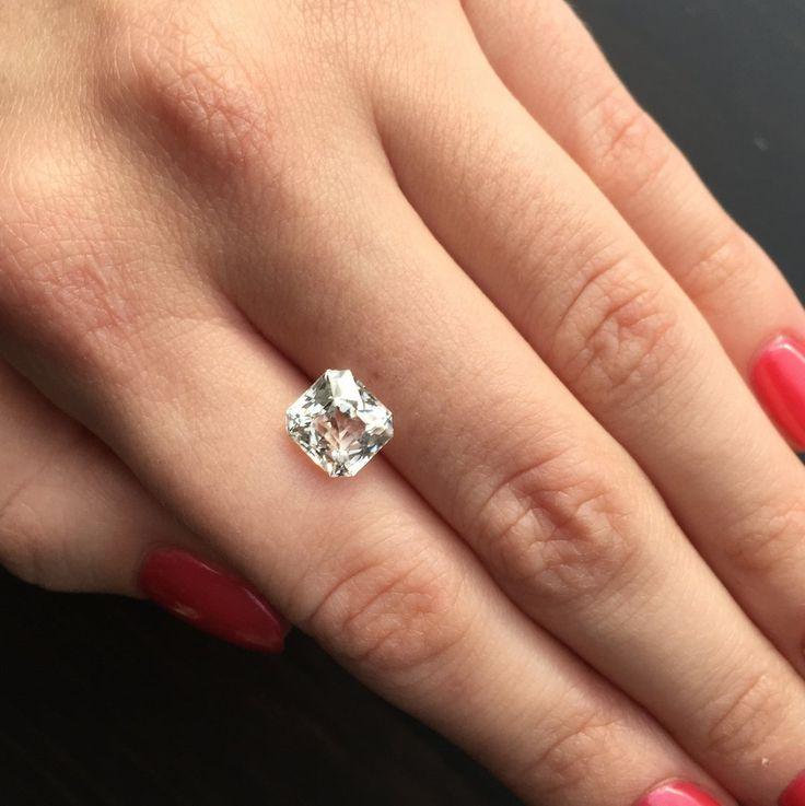 White sapphire 3.44 ct Price: $1200 Clarity: VVS Dimensions (mm):8.14х7.60х5.75 Origin: Sri Lanka ID: ws-1601-34  Worldwide shipping include! For any questions, please contact us Direct/Viber/Whatsapp: +94(77)8975577 #whitesapphire #sapphirewhite #sapphirecolorless #naturalsapphire #sapphiresrilanka #sapphireceylon#diamonds #diamondjewelry #sapphirejewelry #sapphirefancy #sapphireclean #sapphirenatural #sapphiregemtone #jewelrylove #cartier