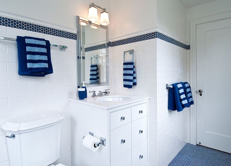 Superior 131 Best Blue And White Bathroom Ideas Images On Pinterest | Bathroom  Ideas, Tiles And Room