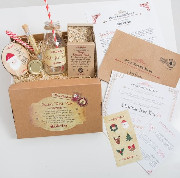 "Santa's Treat Pack ""magically appears"" from the North Pole. Each child has been sent a special task for Christmas Eve, to leave Santa and his reindeer some treats ready for their arrival..."