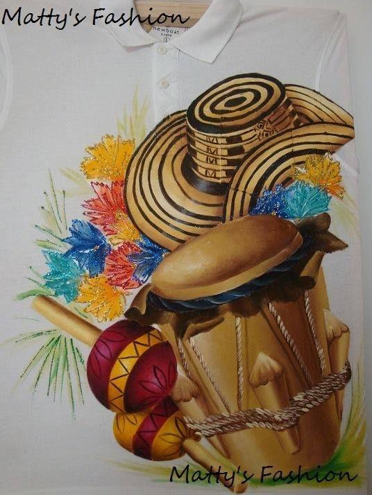 Sombrero, tambor y maracas