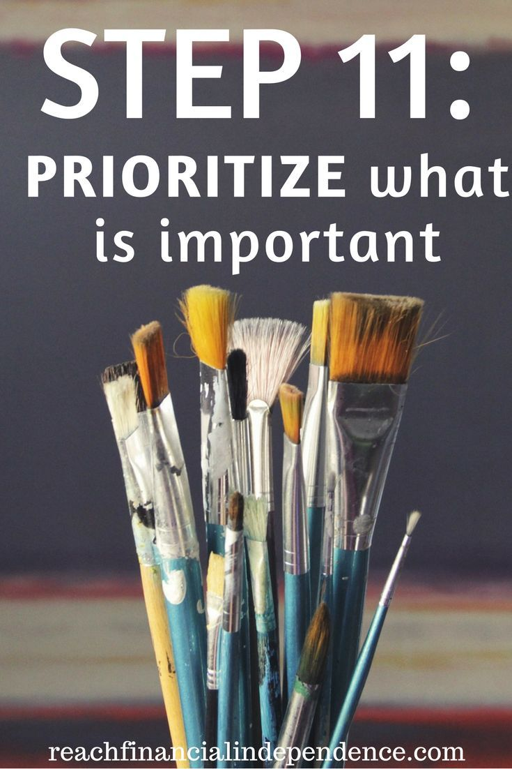 Step 11: Prioritize what is important. This post is part of a 30 days series called the 30 steps program to financial independence.