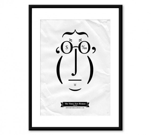 Coup de cœur pour l'initiative Type Faces Project qui vient du créatif portugais Tiago Pinto. Travaillant à Amsterdam, ce dernier joue avec la ponctuation et les signes pour composer des visages à la fois réussis et drôles.