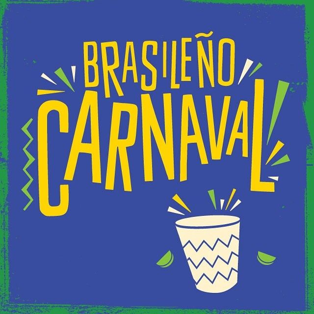 Some typography for Revolucion de Cuba World Cup carnival #Brazil #carnival #graphicdesign #typography #bright #samba #texture
