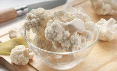 Rezept für einen frischen Blumenkohlsalat (roh)